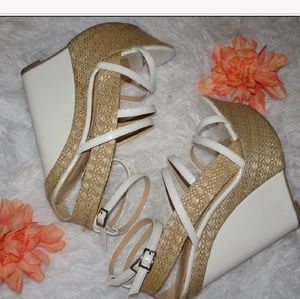 High White and Tan Wedges